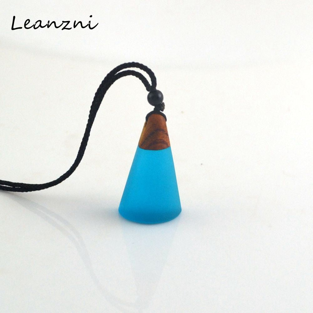 Leanzni Retro featured wood collocation, necklace pendant, fashion ladies jewelry, rope matching, gift wholesale - Resonate Crystal
