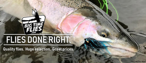 BigTimeFlies Flies Done Right Steelhead With Black and Blue Fly