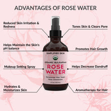 Load image into Gallery viewer, USDA Organic Bulgarian Rose Water (4 oz)