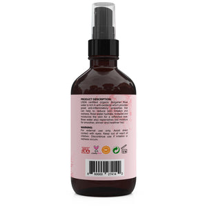 USDA Organic Bulgarian Rose Water (4 oz)