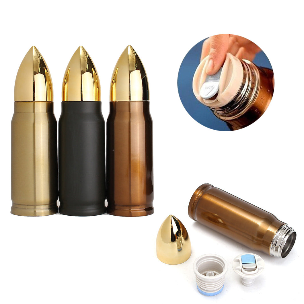 Bullet shaped drinking flask.  Great gift for military, law enforcement, weapon enthusiast and NRA members.
