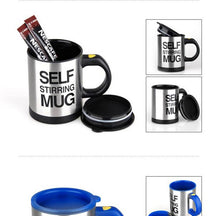 Load image into Gallery viewer, Stainless Steel Self Stirring Coffee Mug
