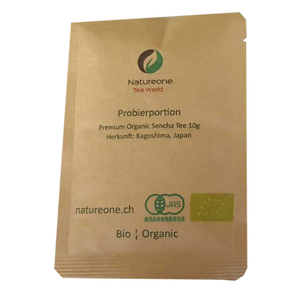 Probierportion Premium Bio Sencha aus Kagoshima 10g - Natureone Tea World