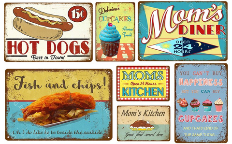 Metal Tin Vintage / Retro Signs / Plaques