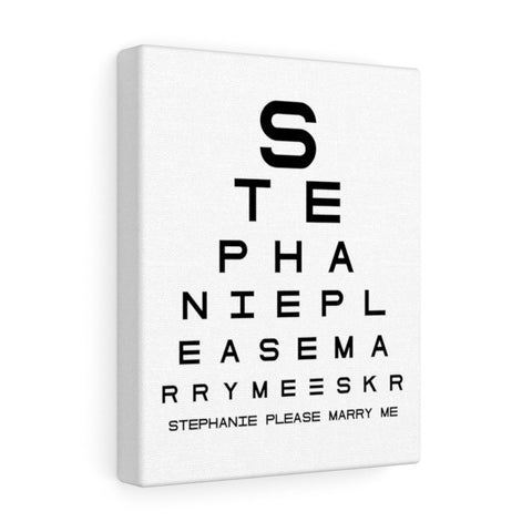 Eye Chart Hidden Message or Name
