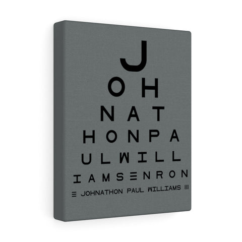 Eye Chart Hidden Message or Name - Grey