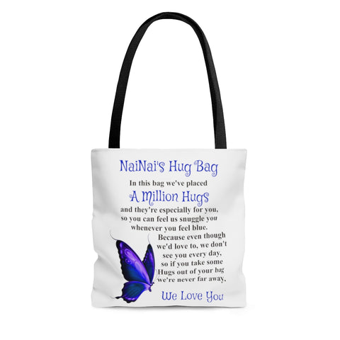 Butterfly Design Grandmother Hug Bag (Plural)