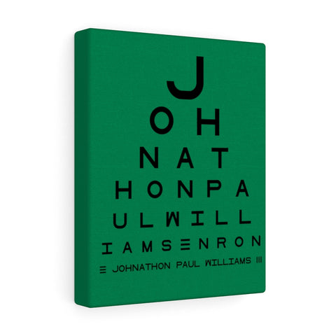 Eye Chart Hidden Message or Name - Dark Green