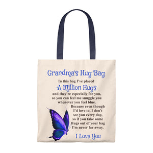 Butterfly Design Grandmother Hug Bag (Singular)