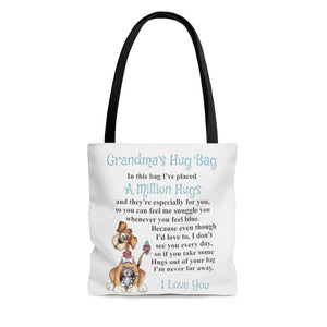 Dog, Cat, Bird Design Grandmother Hug Bag (Singular)