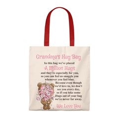 Bear With Flowers Design Grandmother Hug Bag (Plural)