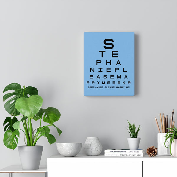 Eye Chart Hidden Message or Name - Light Blue