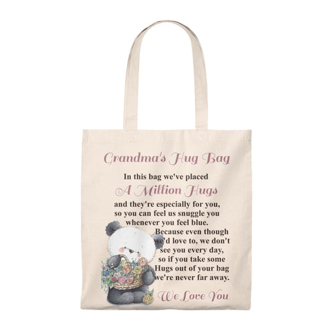 Panda & Flowers Design Grandmother Hug Bag (Plural)