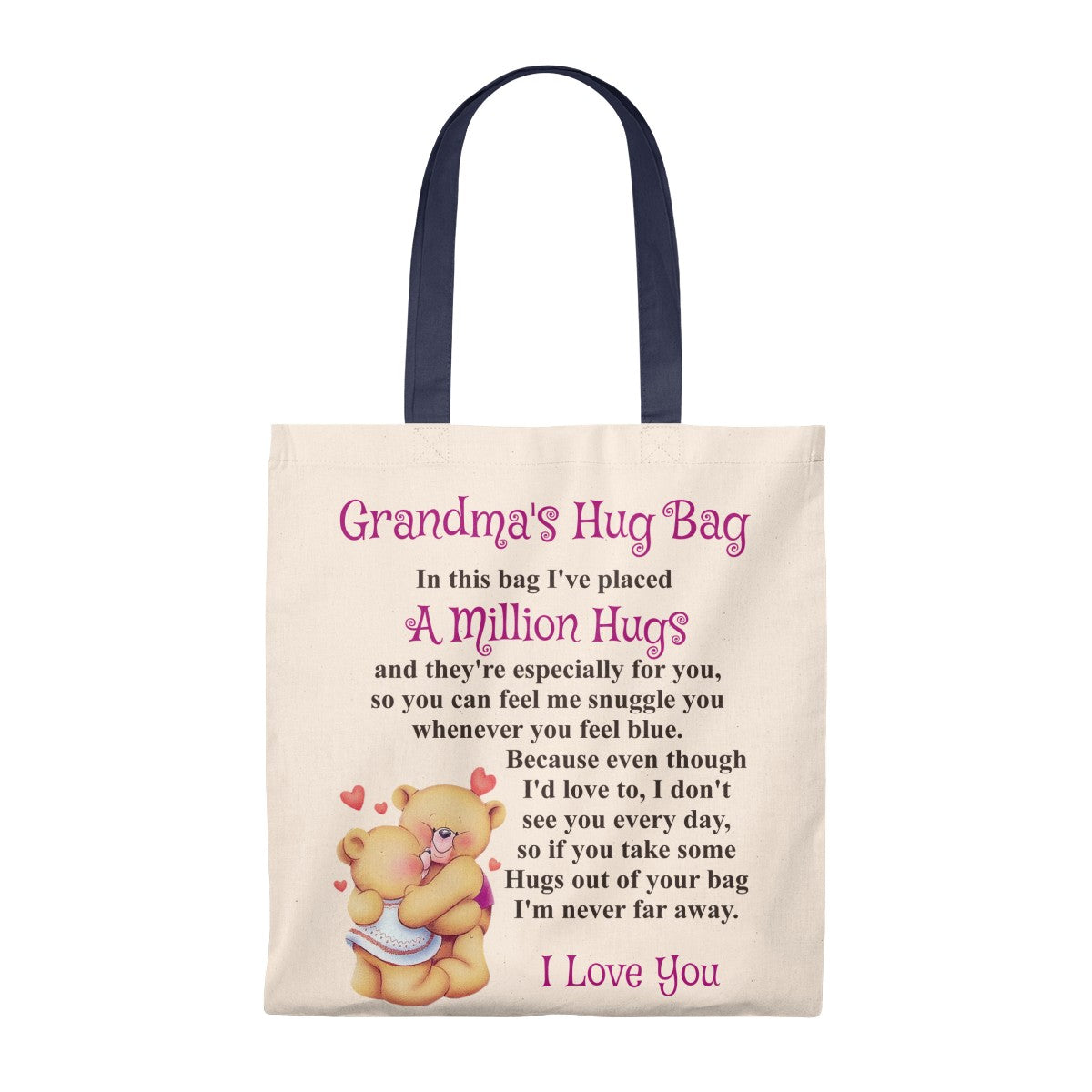 Bears Hugging Design Grandmother Hug Bag (Singular)