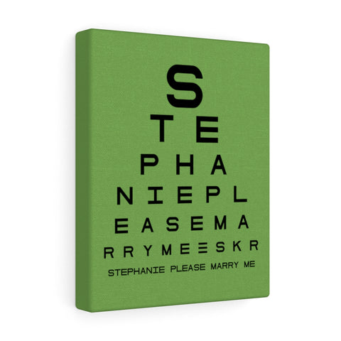 Eye Chart Hidden Message or Name - Green