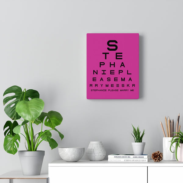 Eye Chart Hidden Message or Name - Purple