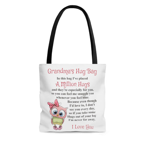 Owl Design Grandmother Hug Bag (Singular)