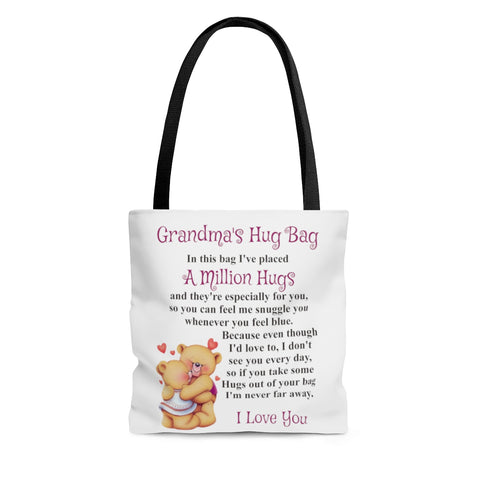 Bear Hugging Design Grandmother Hug Bag (Singular)