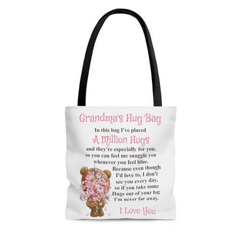 Bear & Flowers Design Grandmother Hug Bag (Singular)
