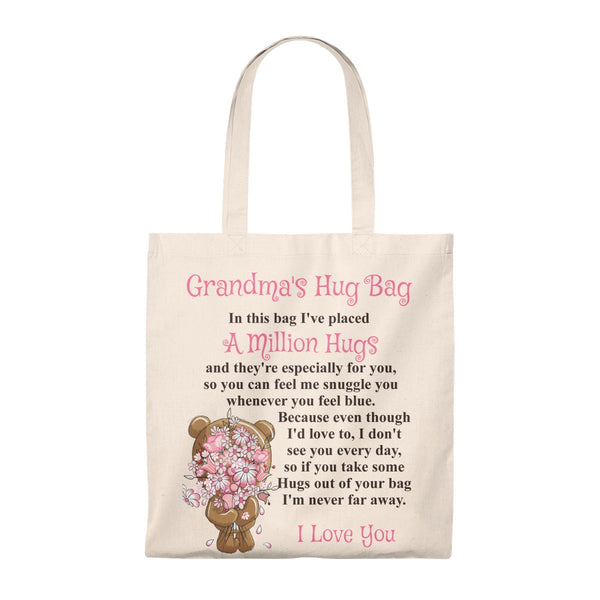 Bear With Flowers Design Grandmother Hug Bag (Singular)