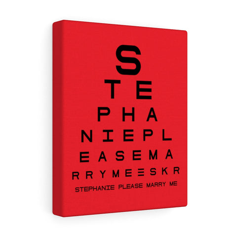 Eye Chart Hidden Message or Name - Red