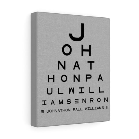 Eye Chart Hidden Message or Name - Light grey