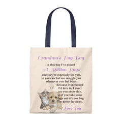 Puppy & Kitten Design Grandmother Hug Bag (Singular)