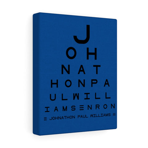 Eye Chart Hidden Message or Name - Dark Blue