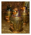 Egyptian Themed Urns