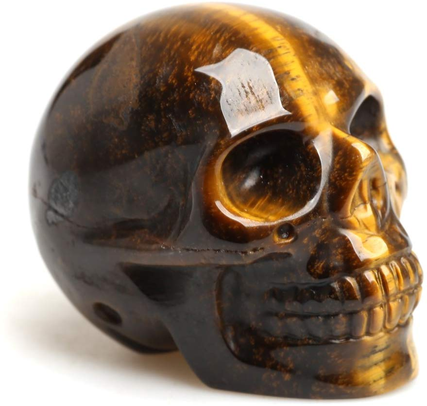 Crystal Skull Tiger Eye