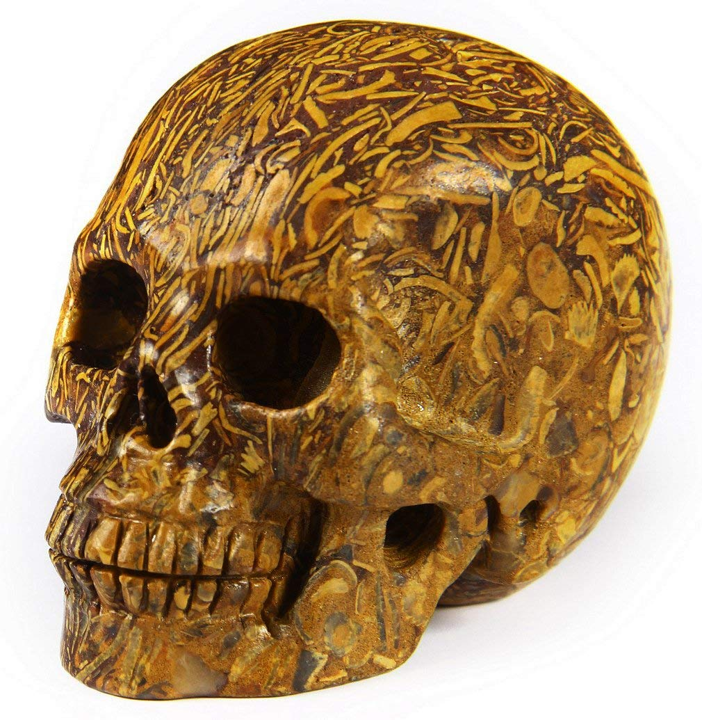 Jasper Carved Crystal Skull