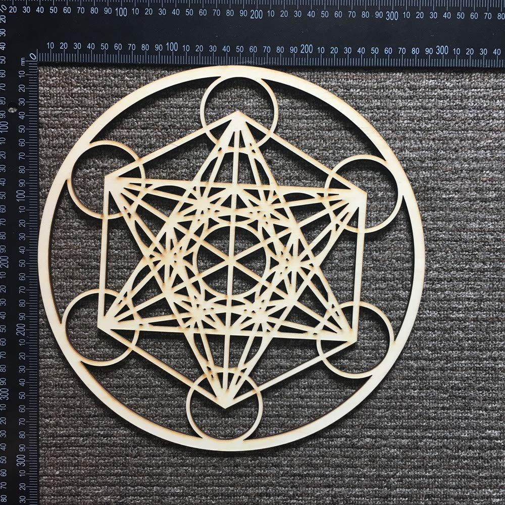 Metatron's Cube Wooden Crystal Grid