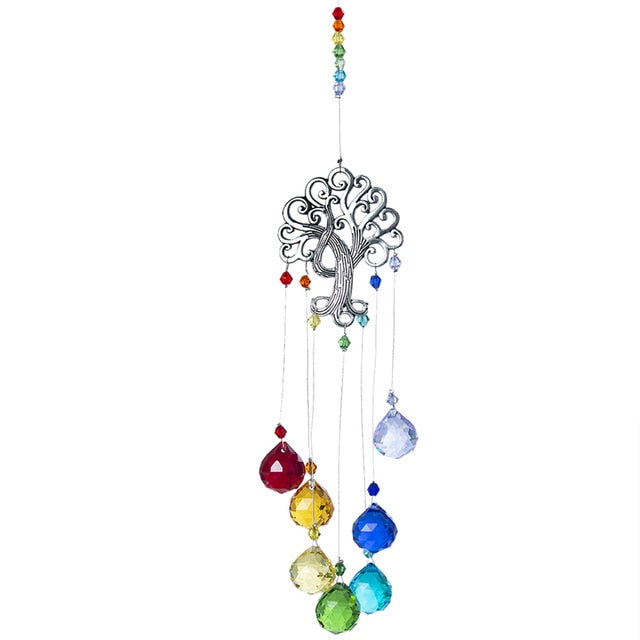 Chakra Prism Tree of Life  Sun Catcher