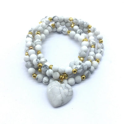 Malas - 108 Beads with Heart Stone