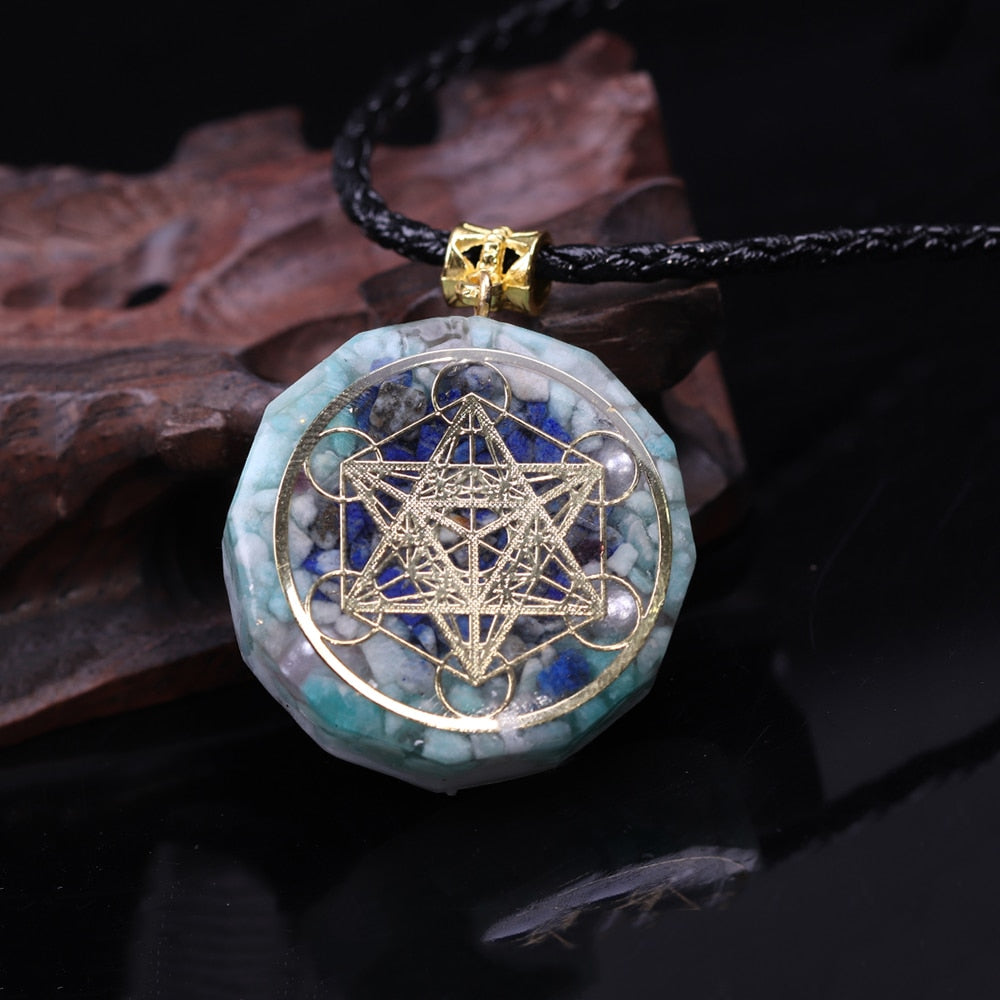 Orgonite Energy Crystal Pendant Necklace