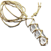 Quartz Crystal  With Weave Rope