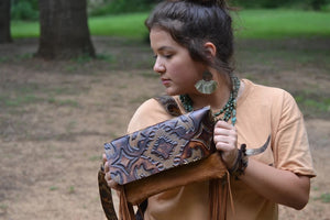 Hair on Hide Handbag w/ Tooled Laredo Flap