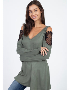 Tunic with Lace inset