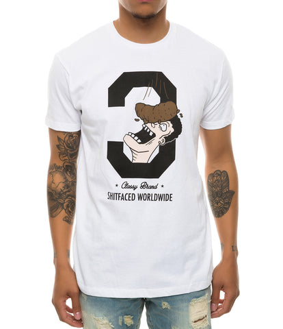 SHITFACED WORLDWIDE TEE WHITE
