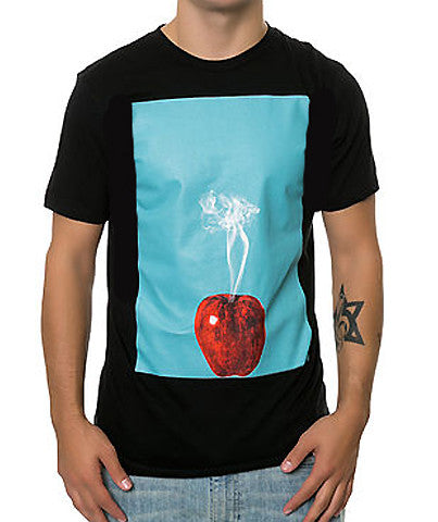 SMOKING APPLE TEE BLACK