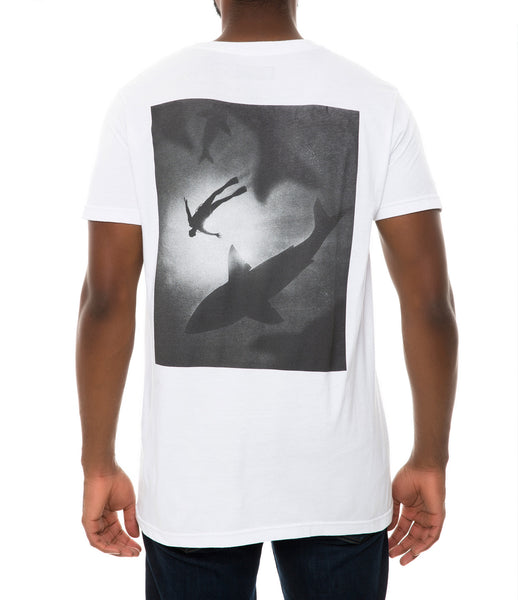 WITH THE SHARKS TEE WHITE