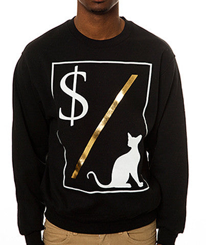 MONEY OVER PUSSY CAT CREW BLK