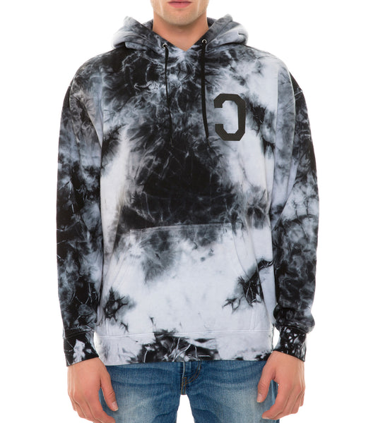 MONEY OVER PUSSY CAT TIE DYE HOODIE