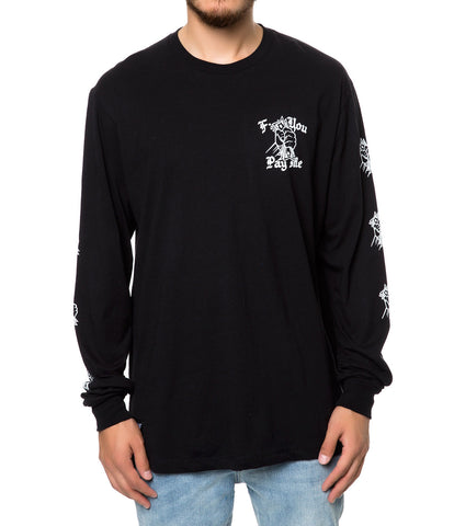 FUCK YOU PAY ME L/S TEE BLACK