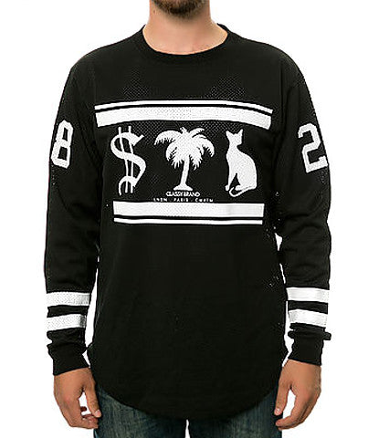 MONEY TREES PUSSY CAT MESH L/S TEE BLACK