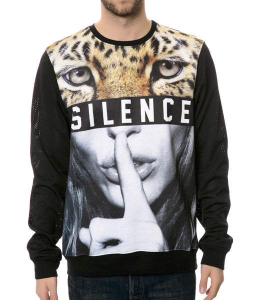 SILENCE FLEECE AND MESH SWEATSHIRT