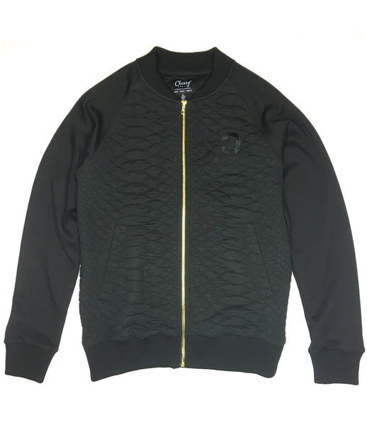 The Reptile Knit Bomber Jacket Black