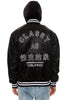 CB WORLDWIDE HOODED SATIN BASEBALL JACKET