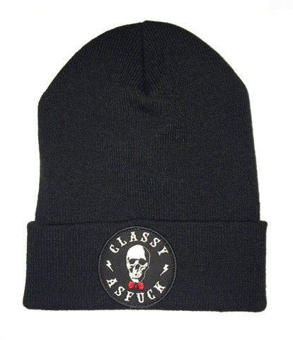 CAF TO DEATH BEANIE BLACK