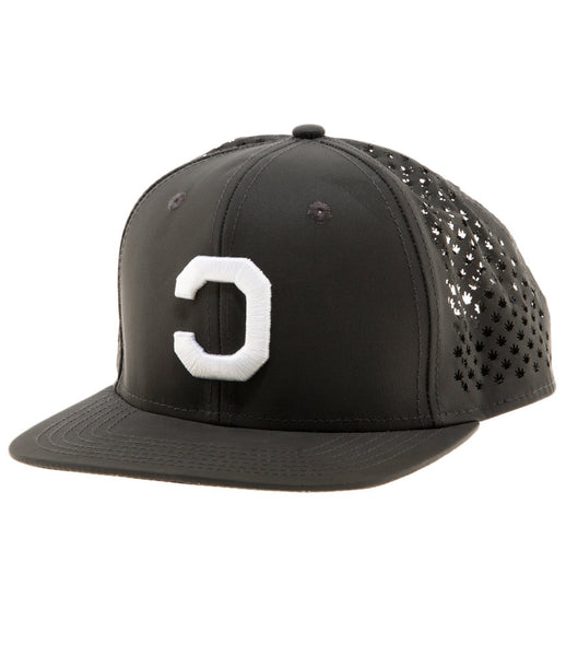 LEAF CUT SNAPBACK 3M BLACK